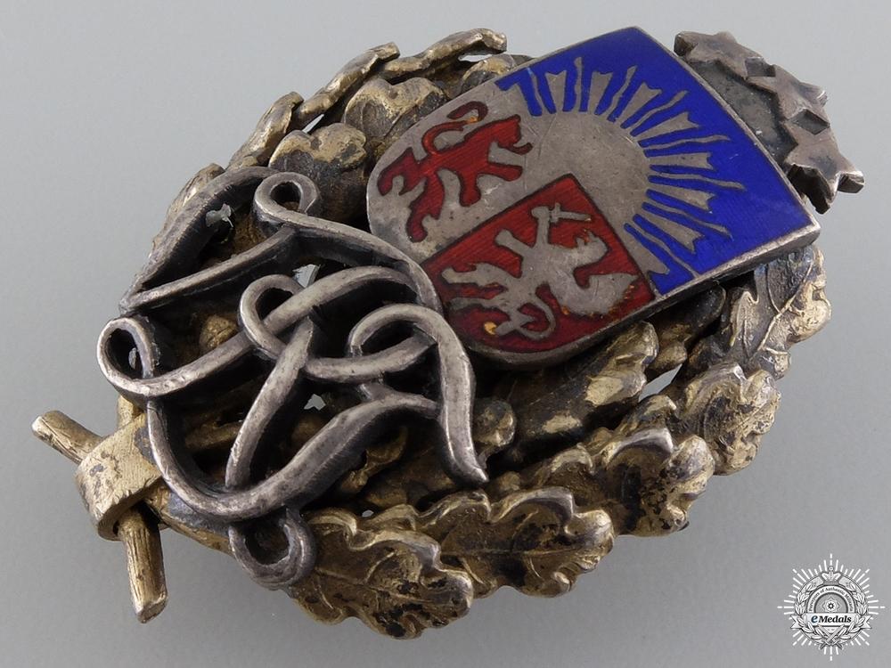 An Interwar Latvian Military Badge  c.1930