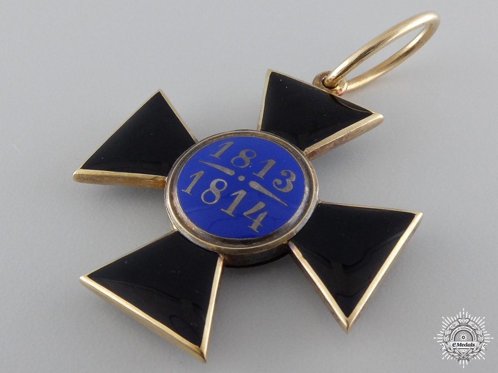 A Rare Prussian Louise Order 1813-14 in Gold