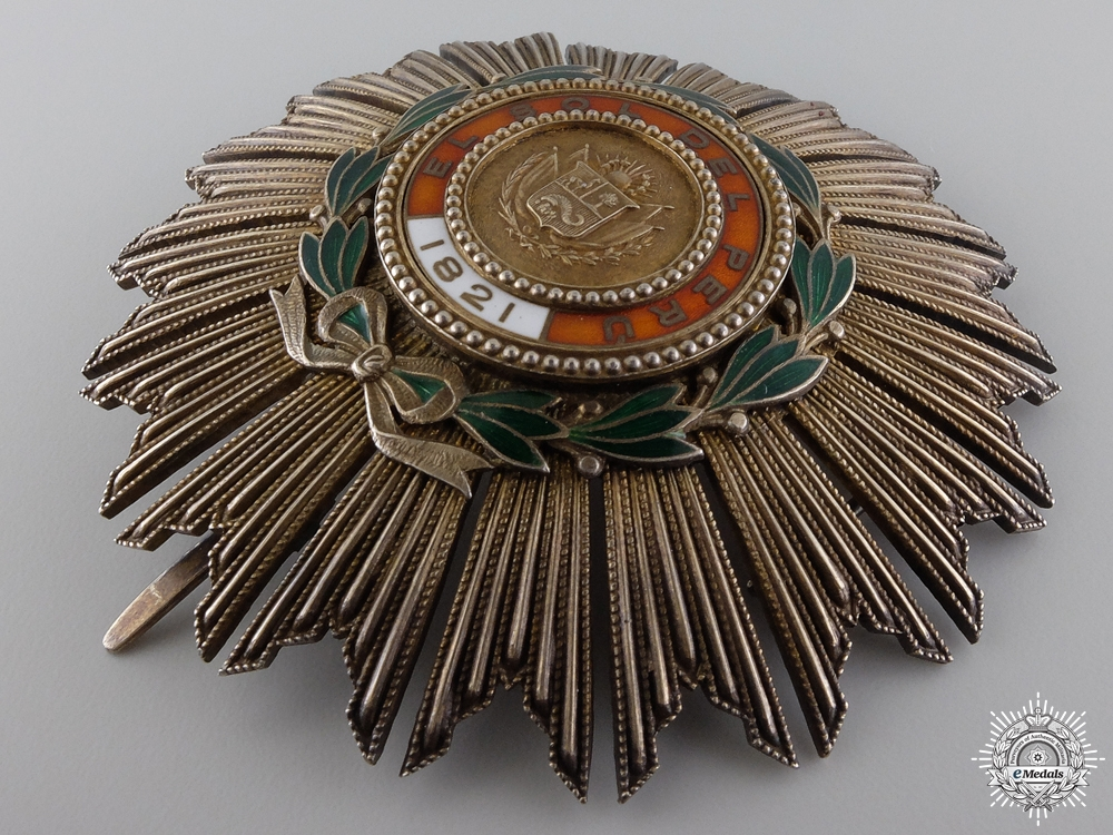 A 1860 Peruvian Order of the Sun; Grand Cross