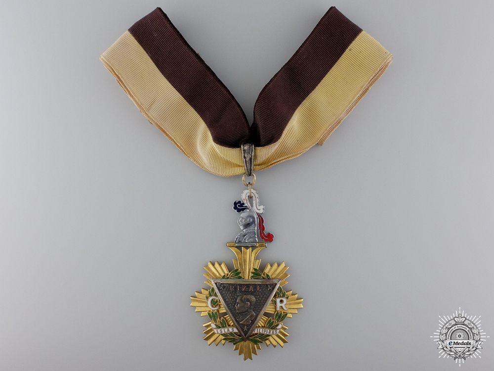 Philippines, Republic. An Order of the Knights of Rizal, Commander, by Angel Zamora & Sons