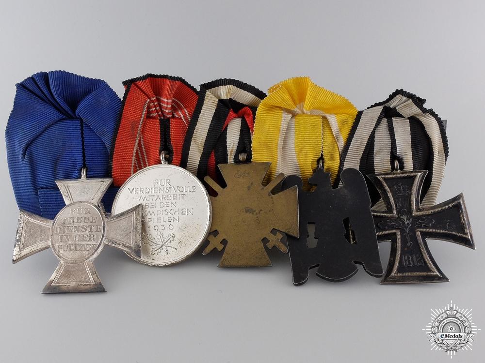 A Fine Olympic & Silesian Eagle German Medal Bar