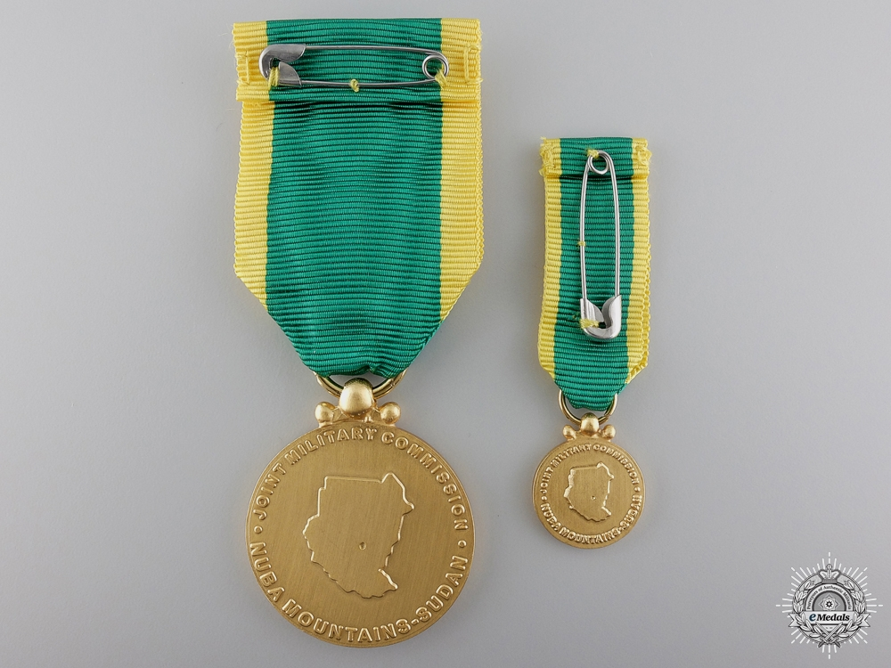 A Joint Military Commission Monitor Medal for the Nuba Mountains in Sudan