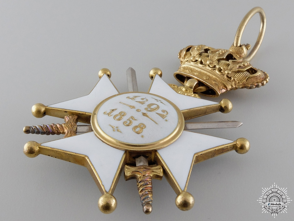 A Military and Civil Merit Order of Nassau; Commanders Cross with Swords