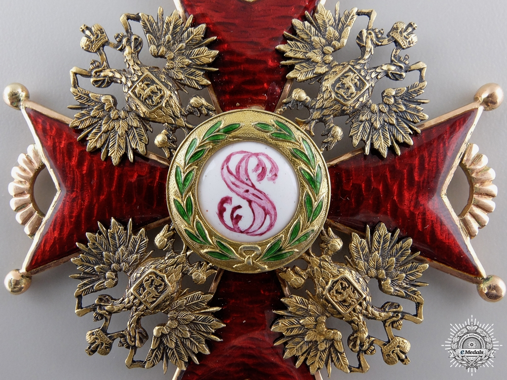 A Russian 1st Class Order of St. Stanislaus in Gold by Eduard