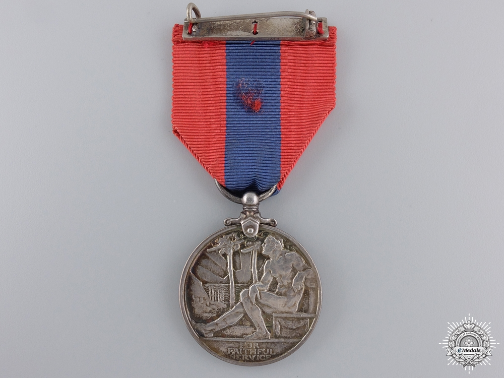 A George V Imperial Service Medal to Moses Smith