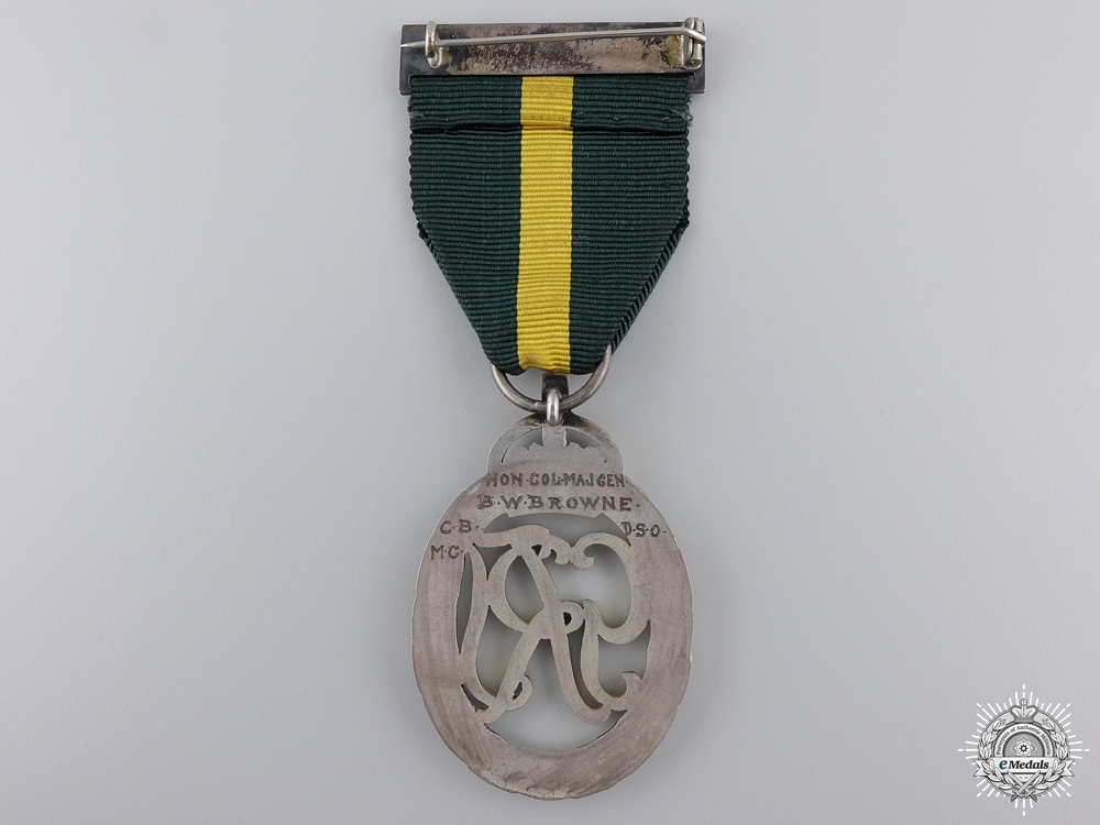 An Efficiency Decoration to Major General B.W. Browne; CB, DSO, MC
