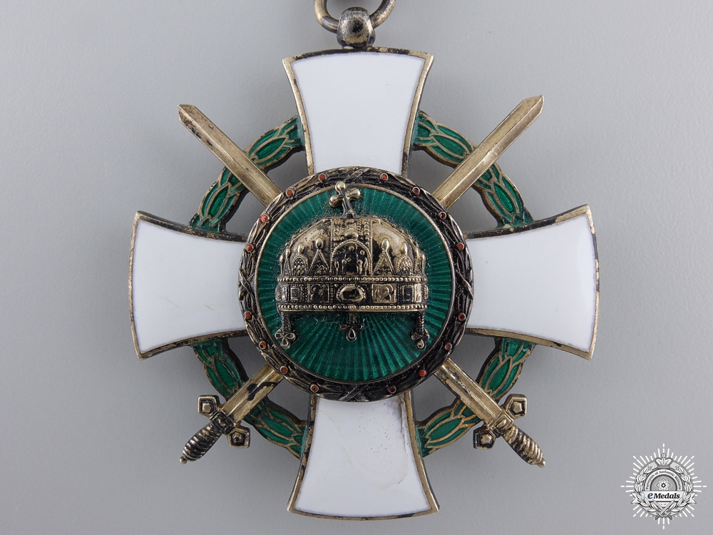 A 1942 Hungarian Order of the Holy Crown, Commander's Cross with Swords