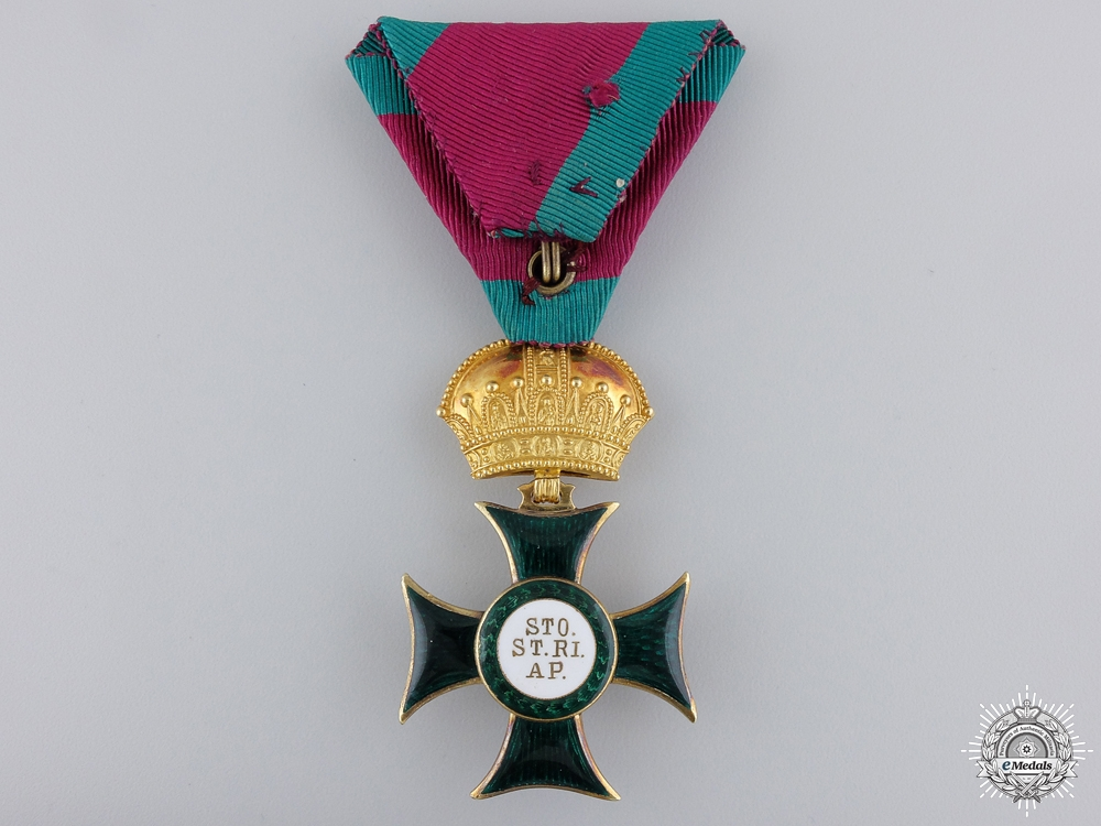 An Austrian Order of St. Stephen by Rothe & Neffe; Knight's Cross c1880