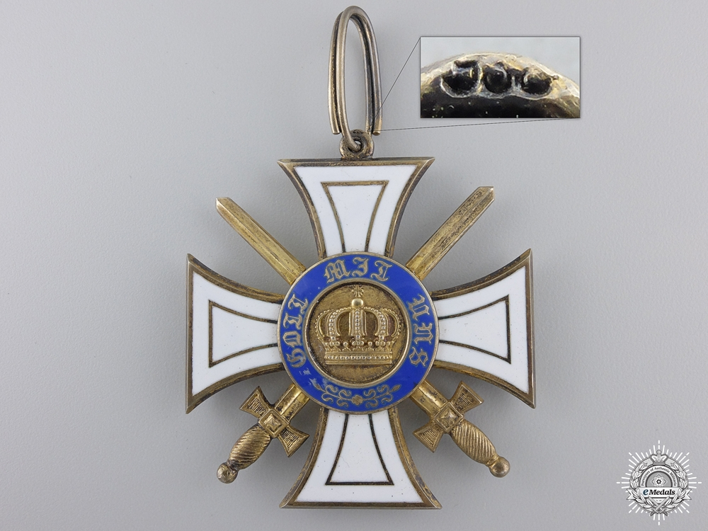 A Prussian Order of the Crown with Swords by Wagner