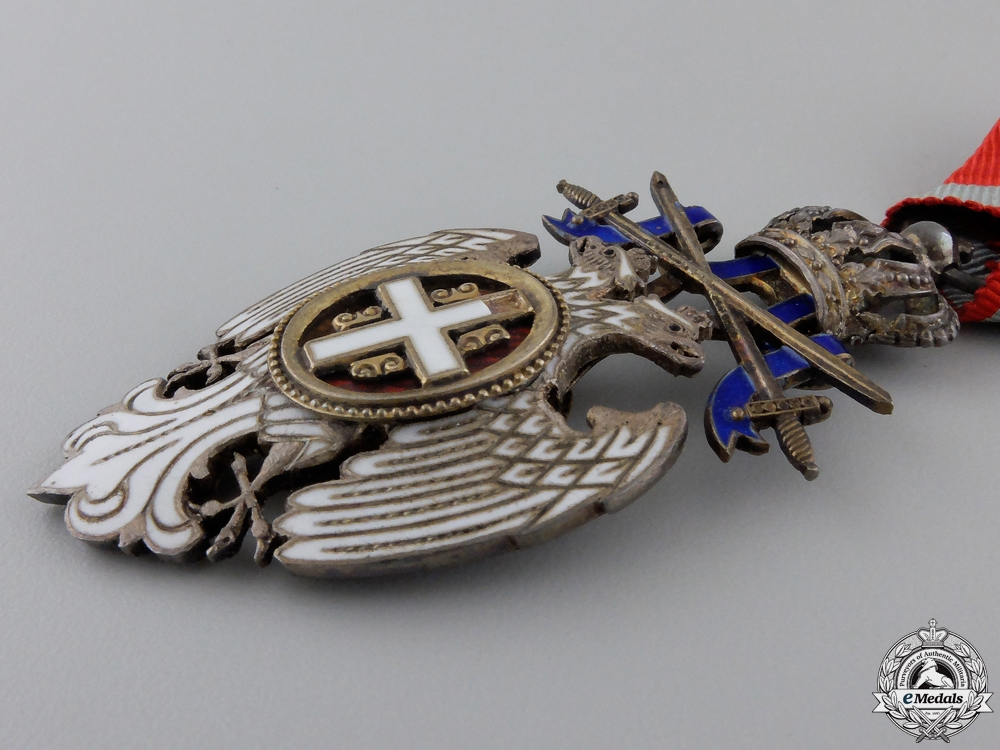 A Serbian Order of the White Eagle; Knight with Swords