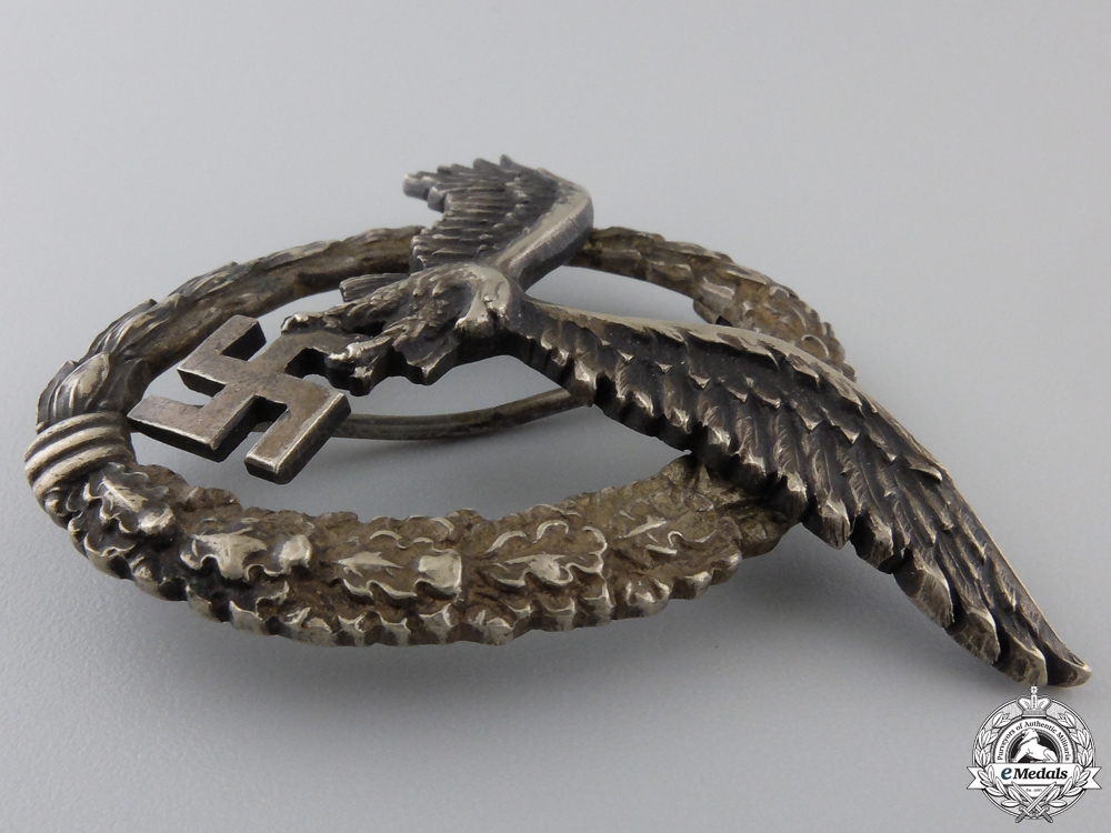 An Early Pilot's Badge to Pilot Downed May 19 1940, France