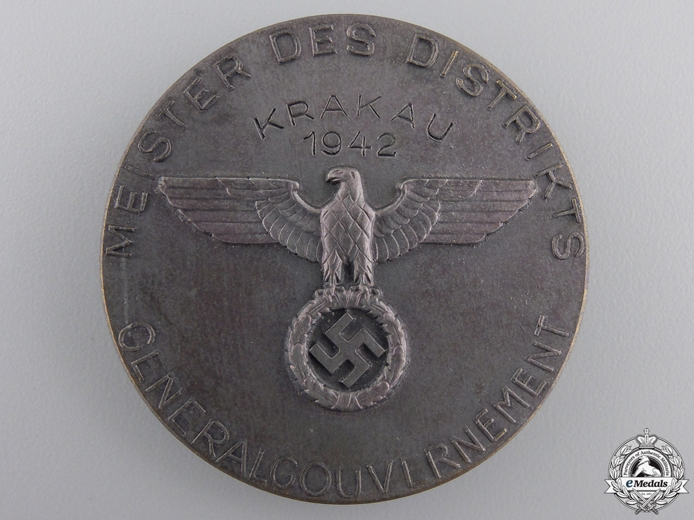 A 1942 Krakau Shooting Award awarded to District Master