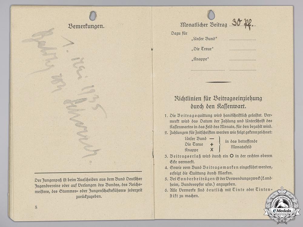 A Youth Book Signed by Baldur Von Schirach 1935