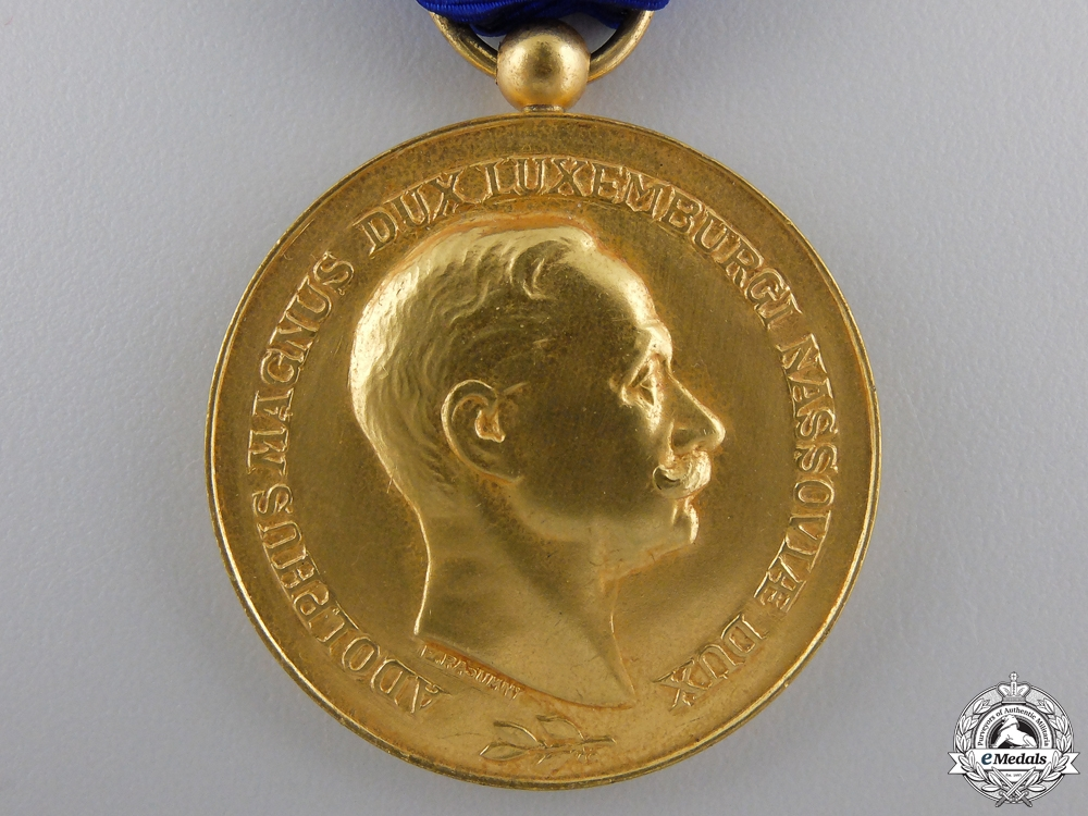 An Order of Adolph of Luxembourg; Golden Merit Medal