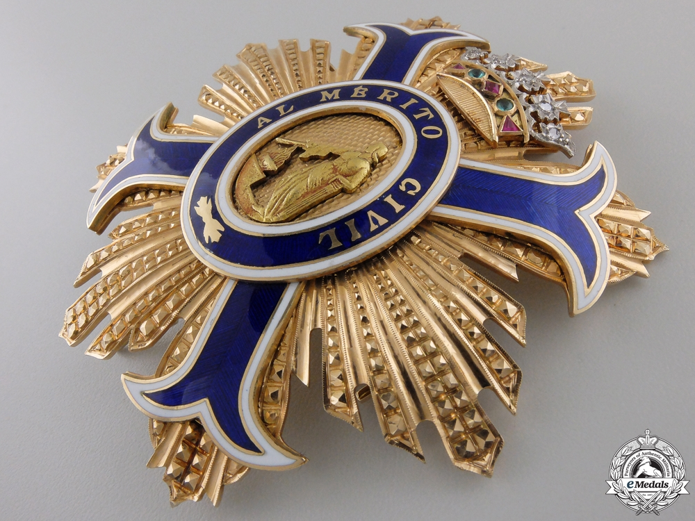 A Most Superb Spanish Order of Civil Merit in Gold & Diamonds