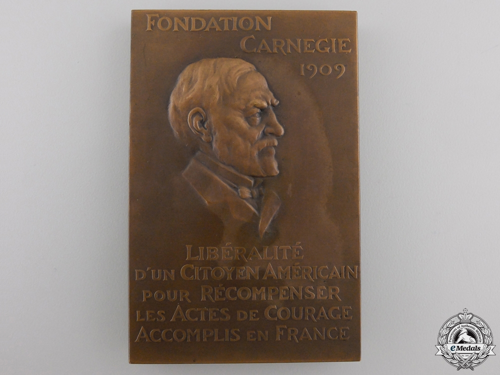 A 1911 French Carnegie Foundation Medal