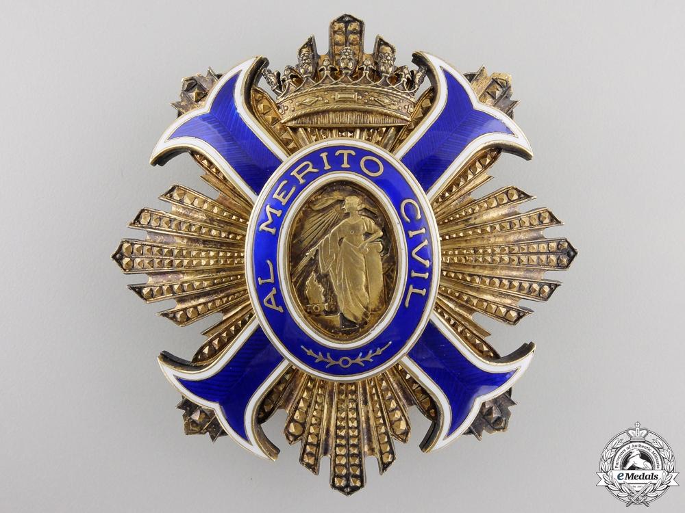A Spanish Order of Civil Merit; Grand Cross Set