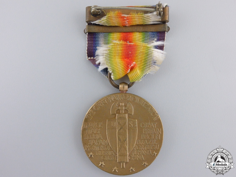 A First War American Victory Medal; France Clasp