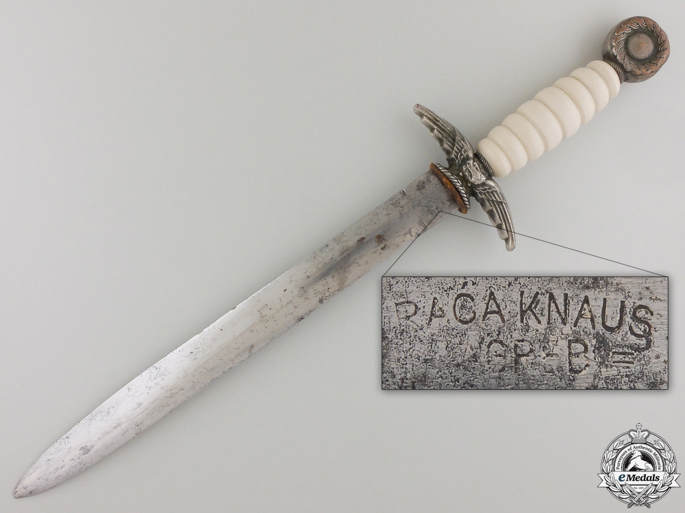 A Croatian Officers Air Force Dagger by Braca Knaus