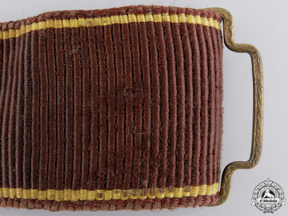 A 1930's Latvian NCO's Dress Belt & Buckle