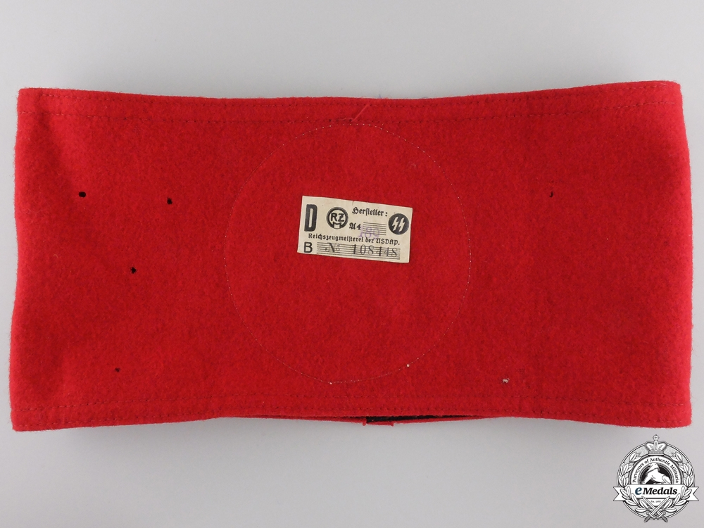 An SS Armband; RZM Tagged