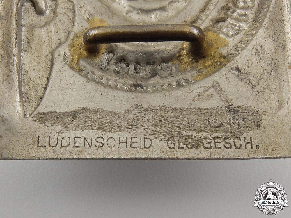 An Early SS Belt Buckle by Overhoff & Cie, Ludenscheid