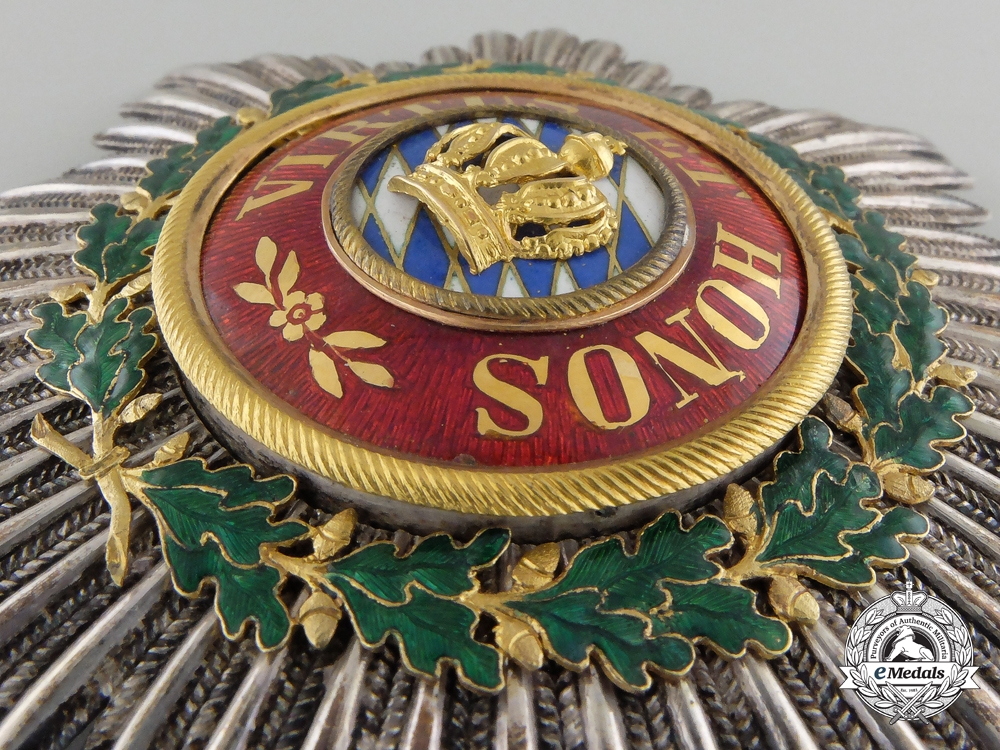 A Superb Bavarian Merit Order of the Bavarian Crown; c.1840