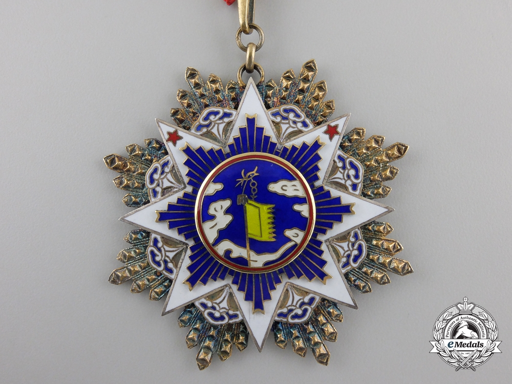 A Chinese Order of the Resplendent Banner; 5th Class Commander