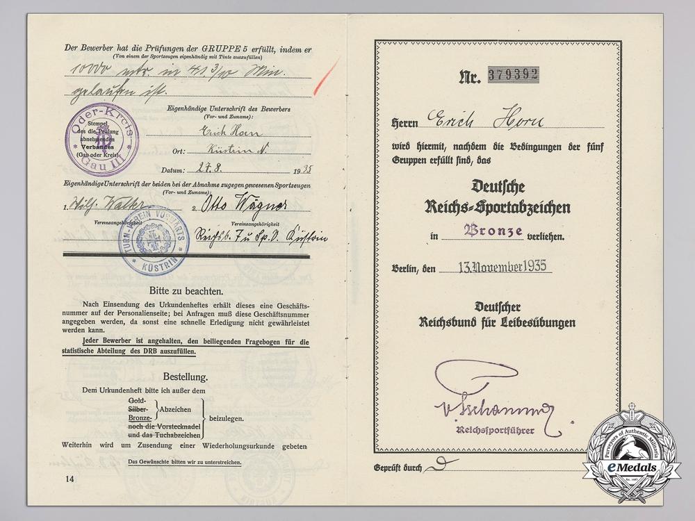 A DRL Bronze Grade Badge Award Document
