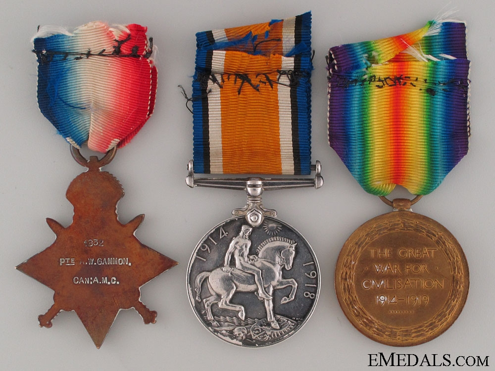 WWI Canadian Trio to the 5th Field Ambulance