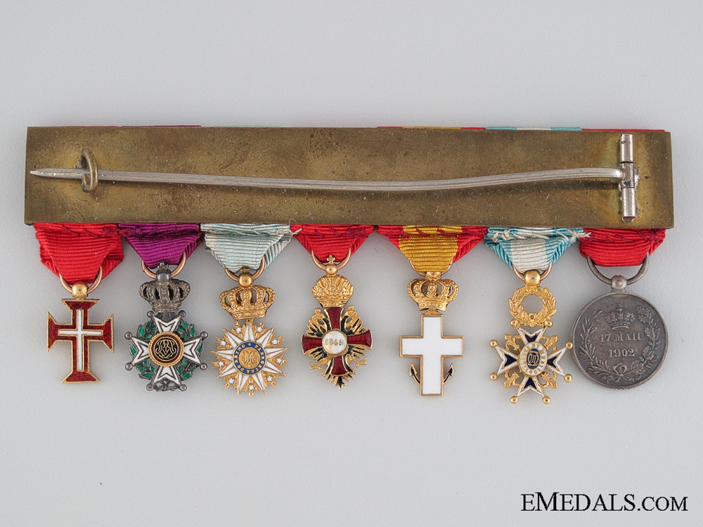 A Spanish Miniature Medal Bar