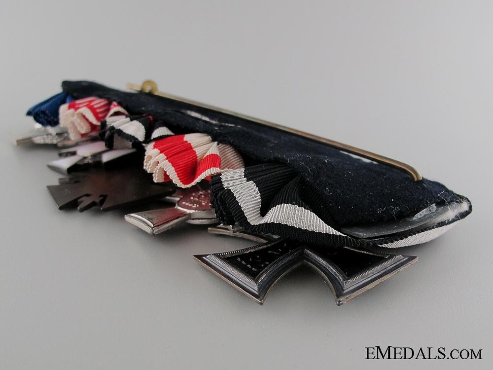 An Imperial German Five Piece Medal Bar