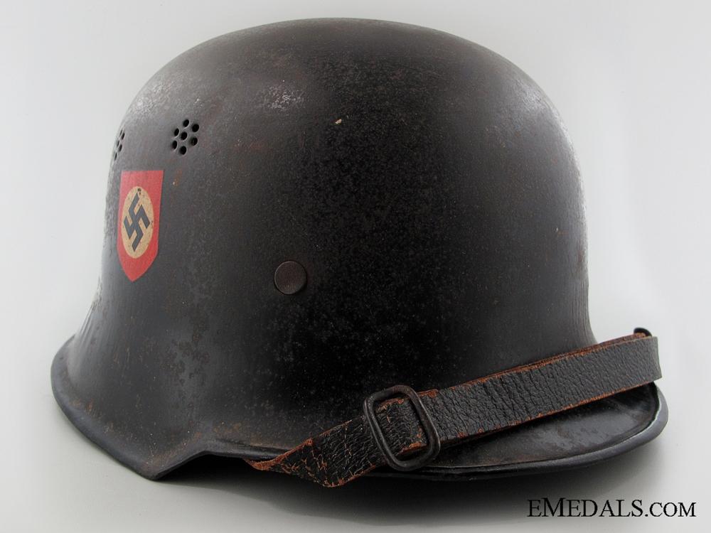 An M34 Double Decal Feuerschutzpolizei Helmet