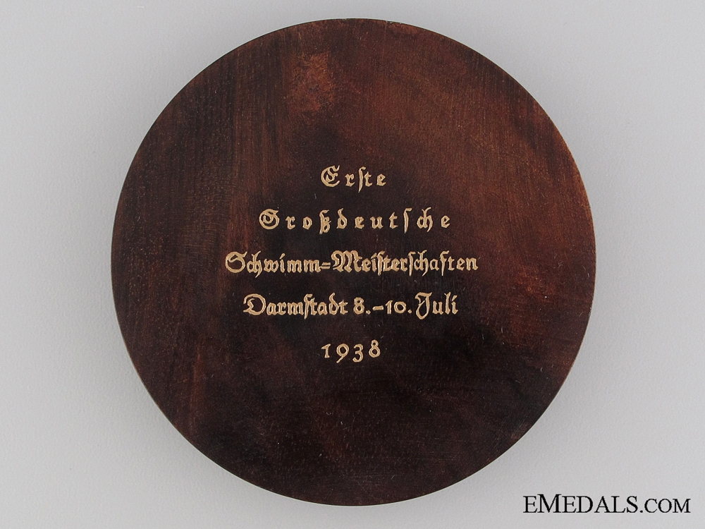 1938 Physical Education Swimming Championships Award