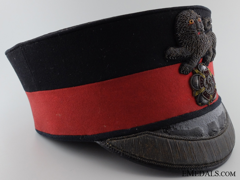 1880's King's Own Royal Regiment (Lancaster) Officer's Pill Box Cap