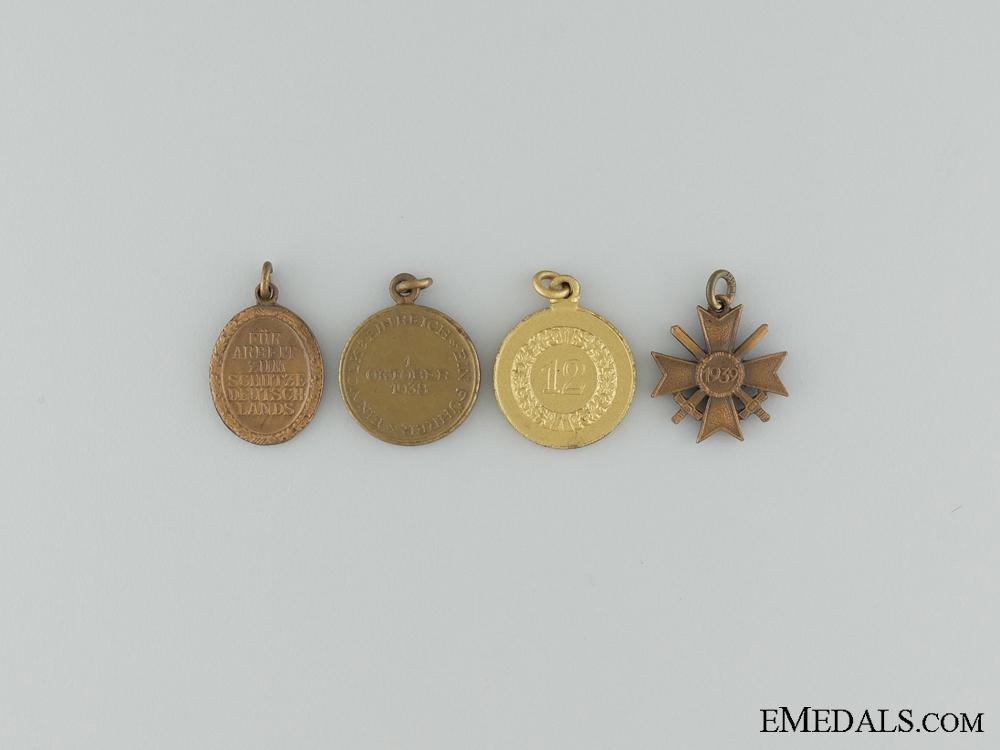 Four Third Reich Miniature Medals