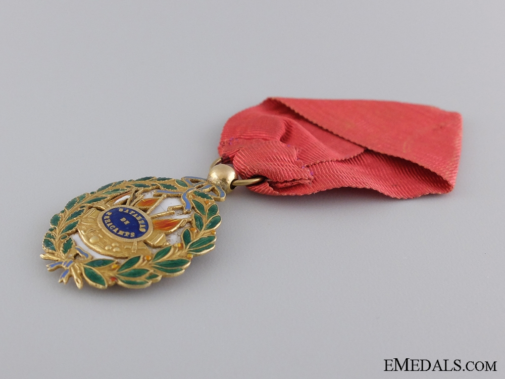 An 1840 Gold Spanish Battle of Peracamps Medal; Officer's Version
