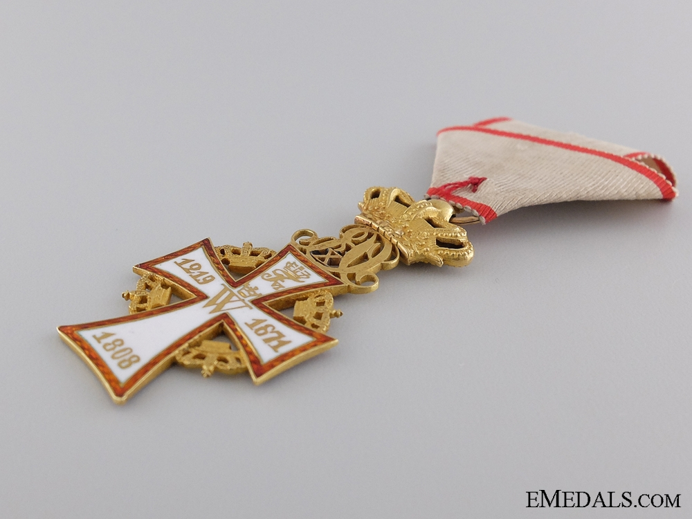 A Danish Order of Dannebrog in Gold; Christian X (1912-1947)