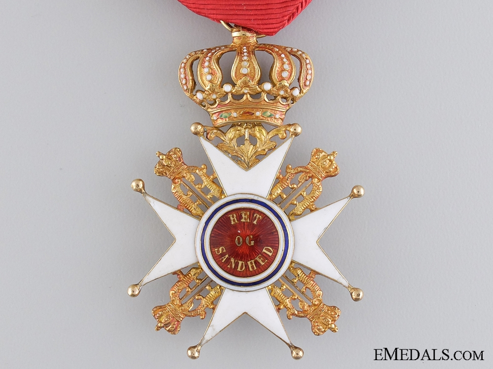 A Norwegian Order of St. Olaf in Gold; Knight First Class (1847-1906)