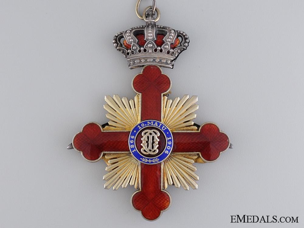 A Romanian Order of Carol I; Commander's Cross