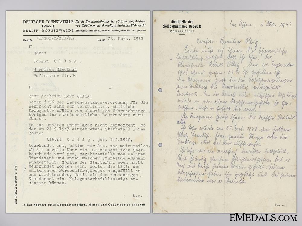 The Wehrpass & Documents to 35th Motorised Panzer Grenadier KIA