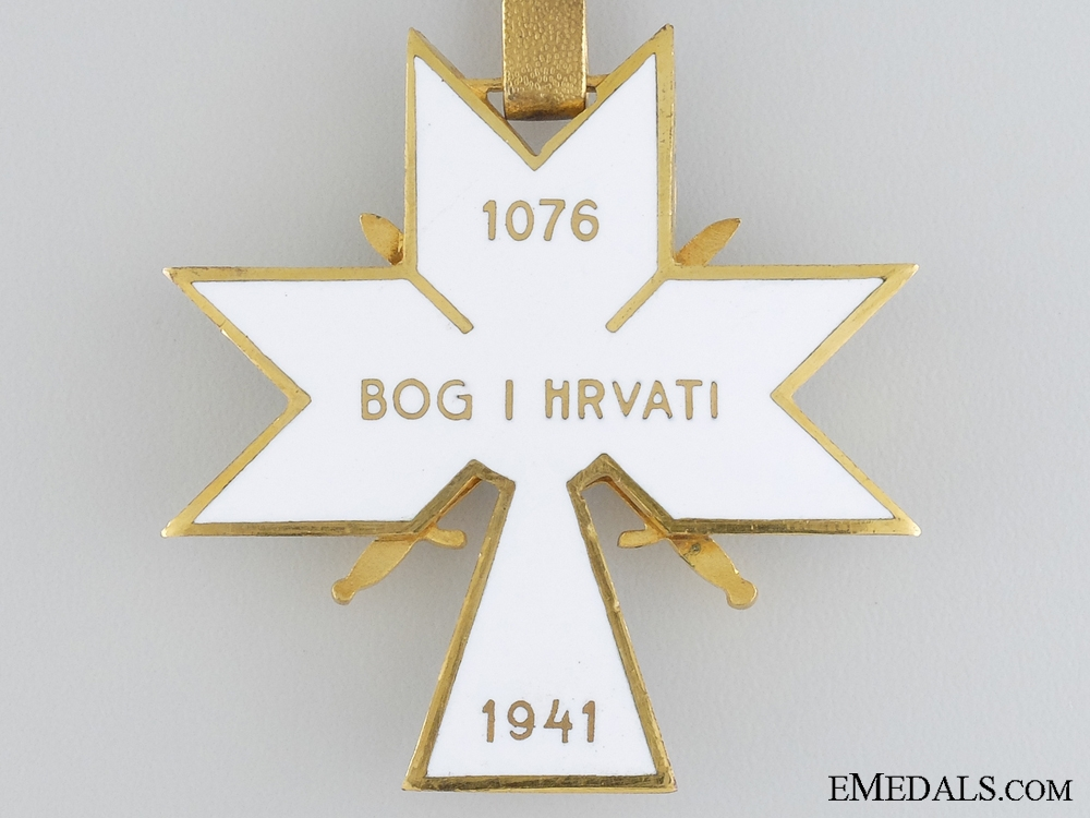 A Croatian Order of King Zvonimir's Crown; 1st Class with Swords