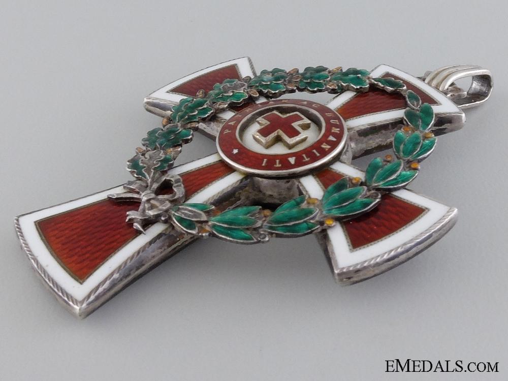 An Austrian Red Cross Decoration; First Class
