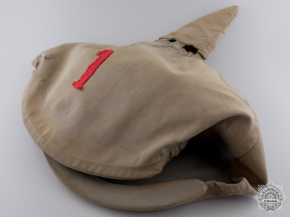 A Model 1915 Pickelhaube Cover for the 1st Infantry Regiment