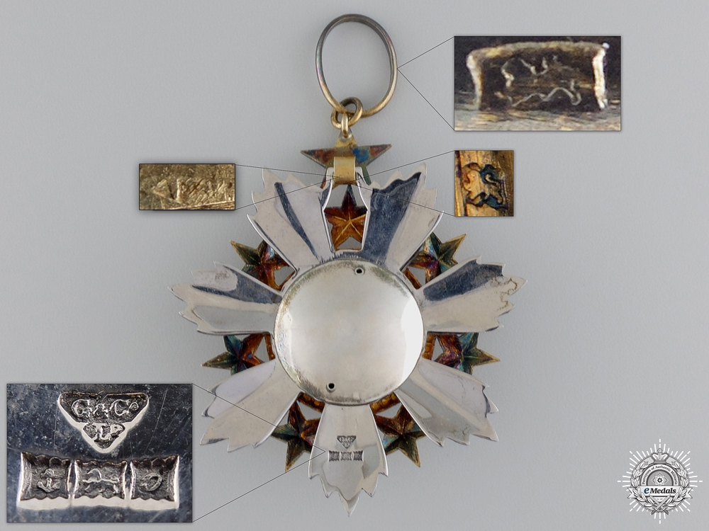 A Jordanian Order of the Star 1949; English Made Commander