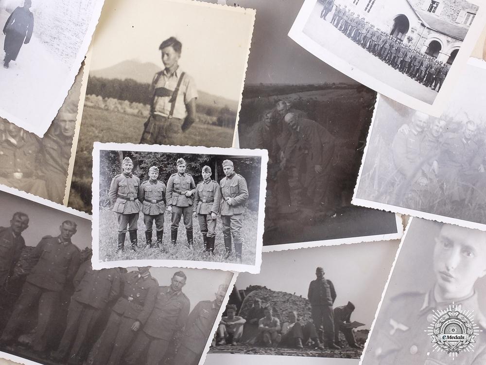A Kriegsmarine Coastal Artillery Badge with Recipient Photographs