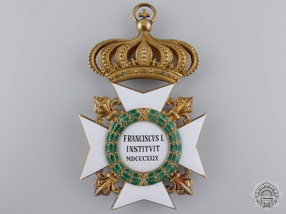 A Royal Order of Francis I; Grand Cross by Rothe