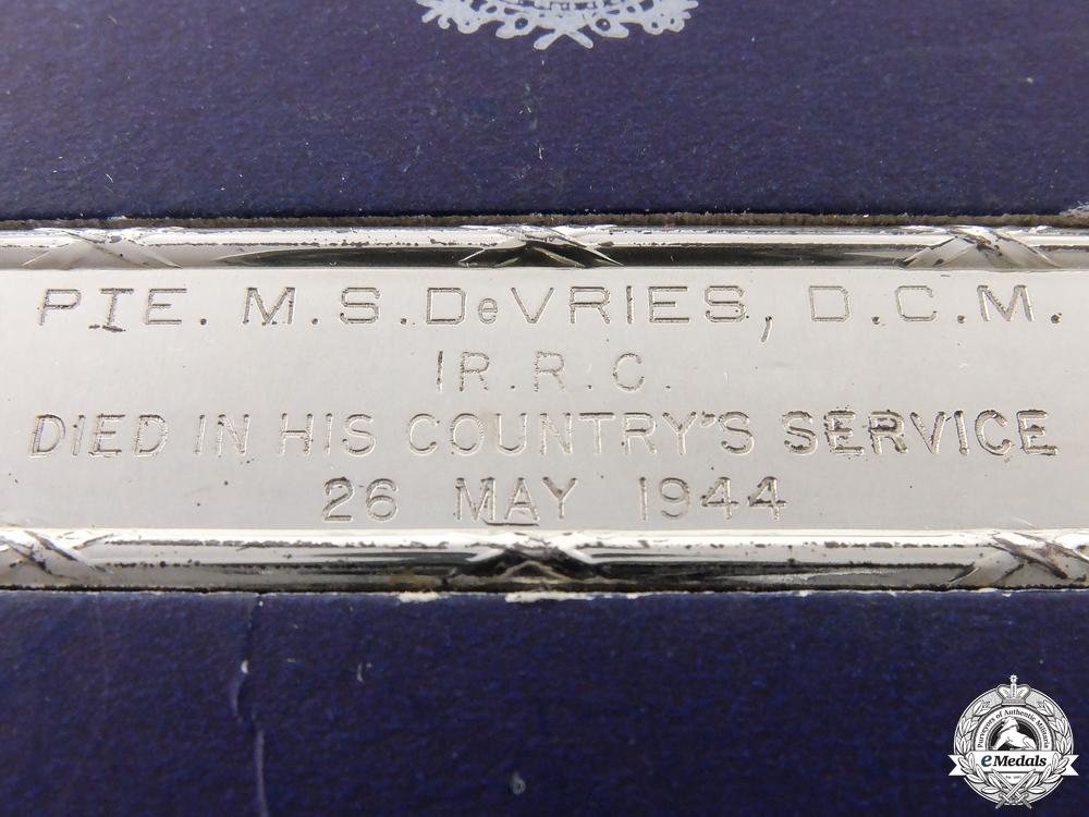 Canada. A Birks Memorial Bar to DCM Recipient; KIA at Liri Valley
