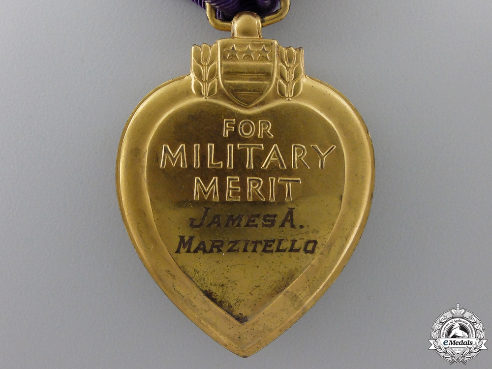 A Second War Purple Heart to James Marzitello