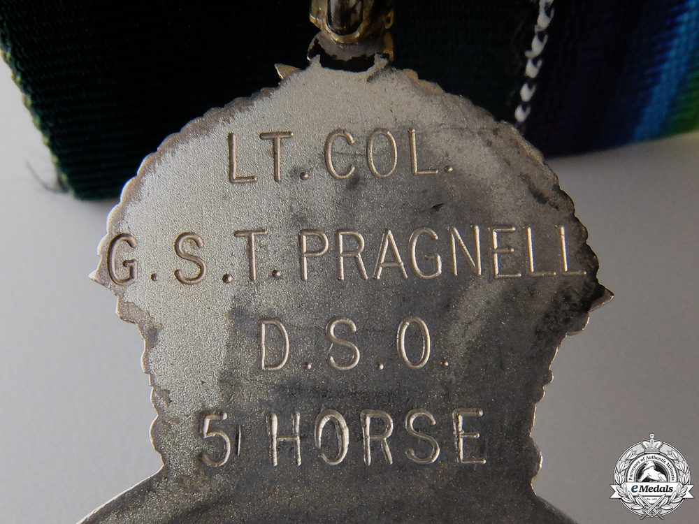 A DSO Group to Lieut. Colonel Pragnell; 5th CAN INF at St.Julien